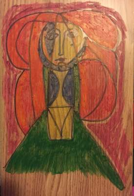 Picasso on wood 2