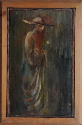 Rabbi with flower`97.oil painting