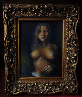 prude...oil painting