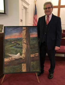 A New Home For 'Dove On The Cross'