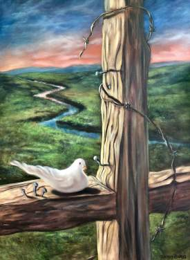 Dove On A Cross