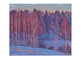 Impressionist Painting *My Winter * Signed, V.Barhatkov !