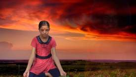Anju meditates with Sai