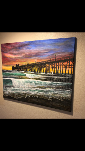 Oceanside sunset pier