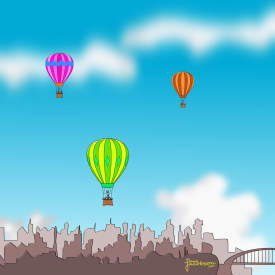 Balloons Over the City