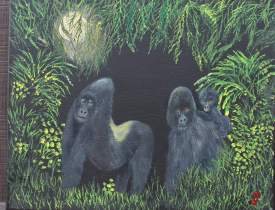 Endangered Silverback Mountain Gorilla