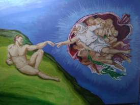 My version of Michael Angelo's Creation of Adam