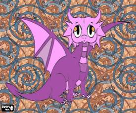 Pink and purple  baby dragon