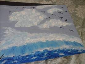 birds over seascapes