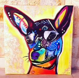 Chihuahua 30x30 SOLD