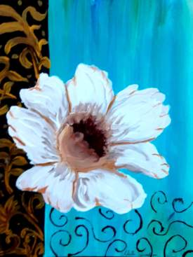 White Flower Wall Art