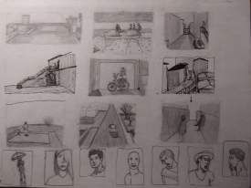 Storyboard drawing practice