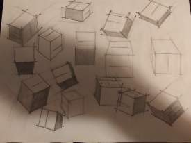 Boxes at different angles