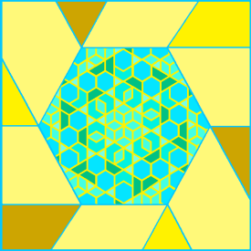 Hexagonal Aperiodic Pattern 4-'21