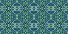 Green and Blue Medallions 4-'21